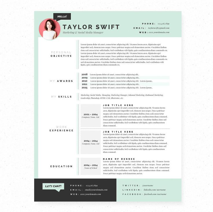 Best Resume Images On   Cv Template Resume Design And
