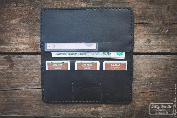 Купить Лонгер - BLACK - кошелек ручной работы, кошелек мужской, изделия ручной работы