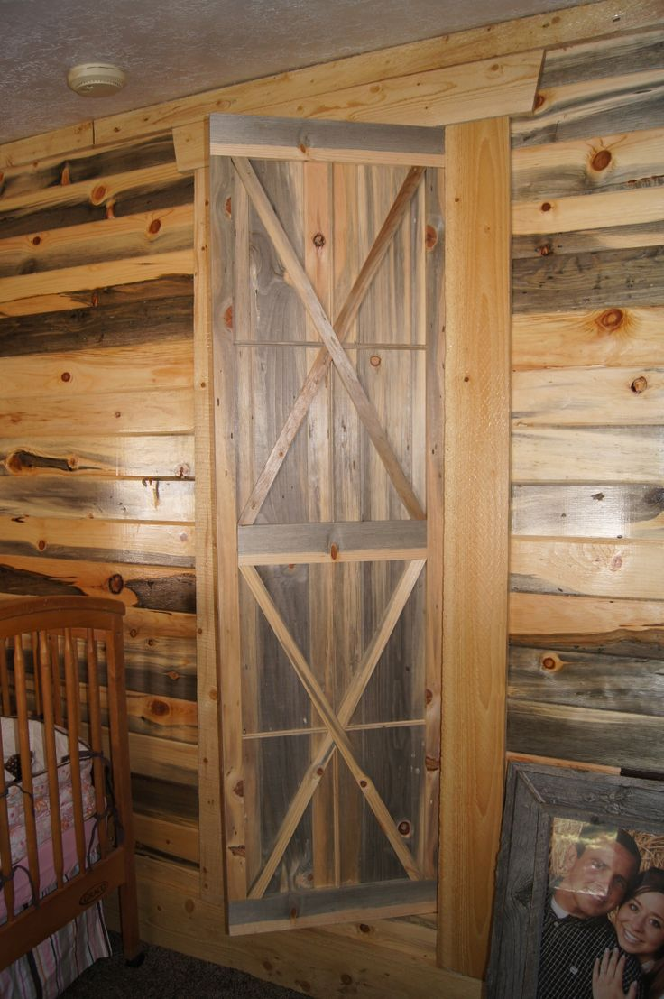 3x8 log siding hand hewn pine - Gibb S Blue Stain Pine Door This Door Was Built Out Of Tongue And Groove Blue