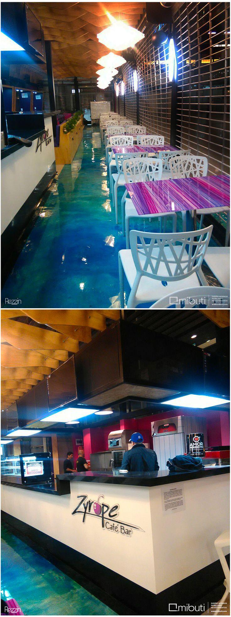 Piso revestido en #rezzin aguamarina con polvos metalizados plata by @Mibuti_R, proyecto de @susoruizlab en Zyrope Café Bar en aeropuerto Internacional El Dorado. @jggalera #diseñointerior #interiorismo #pisos #revestimiento #interior #resin #resinart #floorart #glossy #epoxi #resinfloor  #resindesign #artanddesign #interiordesign #resinartwork #decor #customfloor #coating