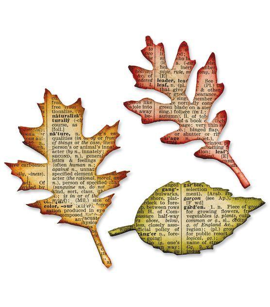 Sizzix Bigz Die-Tattered Leaves, , hi-res