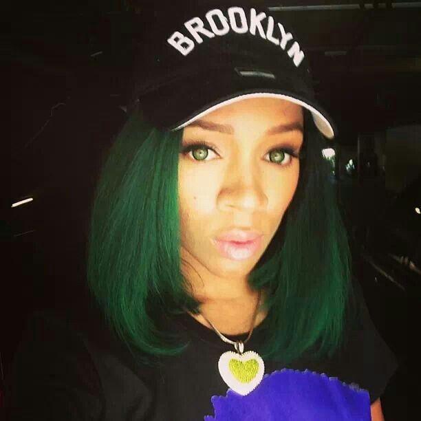 Green Eyes. Green Hair.   Lil Mama (rapper)