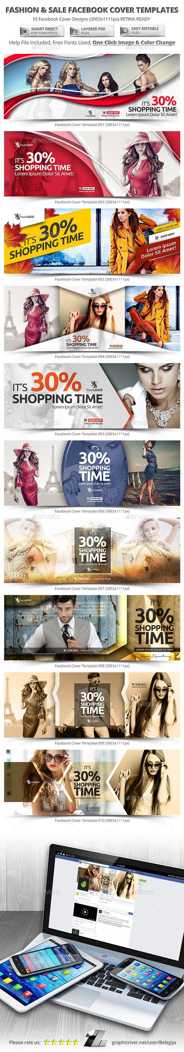 10 Fashion & Sale Facebook Cover Templates #design #psd Download: http://graphicriver.net/item/10-fashion-sale-facebook-cover-templates/12642017?ref=ksioks