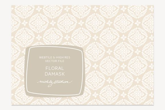 Check out VECTOR & PSD Floral Damask tile & pa by michLg studios on Creative Market
