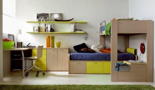 Desain Perabot Simple di Kamar Tidur Anak