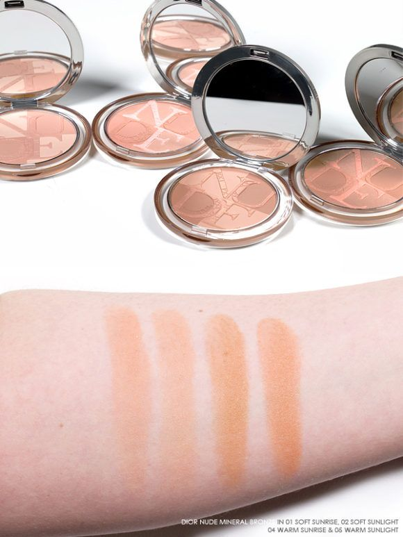 Dior Cool Wave Summer Makeup Look for 2018 Swatches Review - Dior Nude  Mineral Bronze 01 Soft Sunrise, 02 Soft Sunlight, 04 Warm Sunrise, 05 Warm  Sunlight