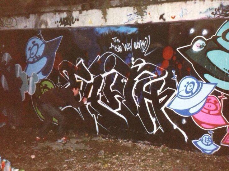 2002 Nijmegen Donovan Spaanstra and the graffiti lady Mickey