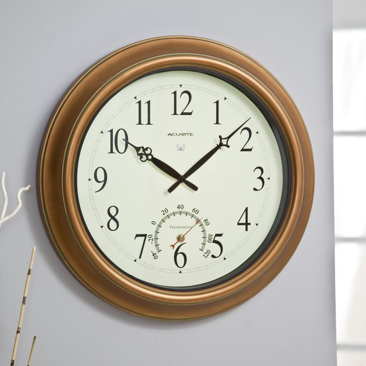 Chaney Balmoral II Atomix Aged Copper 18 in. Wall Clock | from hayneedle.com
