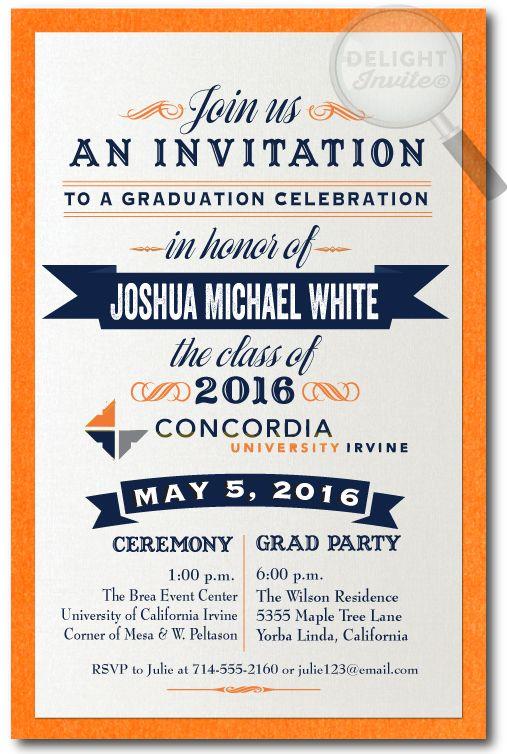 2016 Graduation Announcement Grad Invitations. 2016 Grad Party invitations. Professionally printed graduation party invitations with envelopes. 2016 Graduation announcements