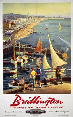 Bridlington Yorkshire's #Gay Seaside Playground Print Vintage Poster Art Beach |  www.waysideflower.co.uk