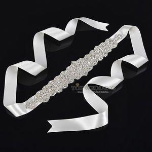 Satin Brautgürtel strass Kristall Schärpe für Hochzeit Party Prom Abendkleider