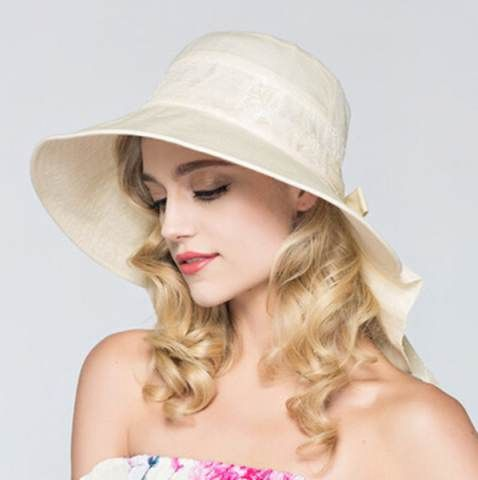 Lace sun protection hat for women summer UV wide brim sun hats