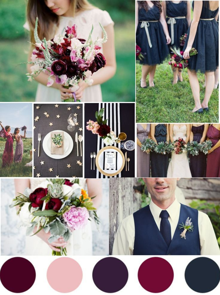 Fall Wedding Bouquets Plum
