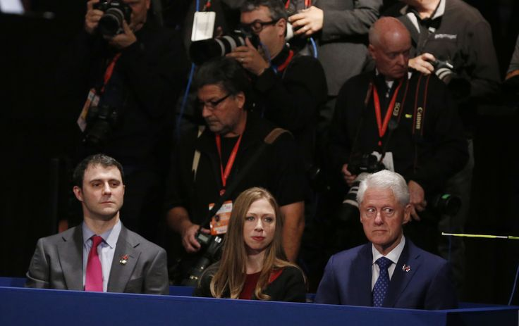 Marc Mezvinsky, Chelsea Clinton and Former U.S.  President Bill Clinton sit at the presidential town hall debate between Republican U.S. presidential nominee Donald Trump and Democratic U.S. presidential nominee Hillary Clinton at Washington University in St. Louis, Missouri, U.S., October 9, 2016. REUTERS/Jim Bourg  via @AOL_Lifestyle Read more: http://www.aol.com/article/2016/10/10/longtime-clinton-aide-calls-chelsea-a-spoiled-brat-in-leaked-e/21578430/?a_dgi=aolshare_pinterest#fullscreen