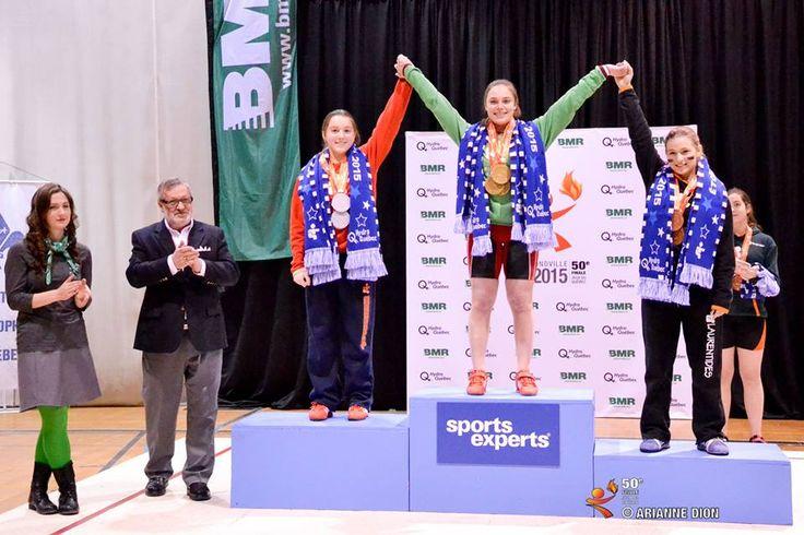 Ma fille Claudie Vaillancourt a remporté trois médailles d'argent en haltérophilie au Jeux du Québec d'hiver 2015 | Total de 128!