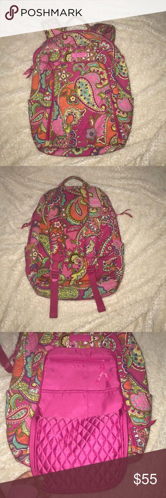Vera Bradley Pink Laptop Backpack Vera Bradley Lap…