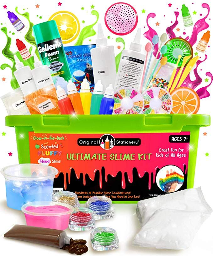 Amazon.com: Original Briefpapier Ultimate Slime Kit: DIY Slime Making Kit mit …   – ASD – Activities Sensory