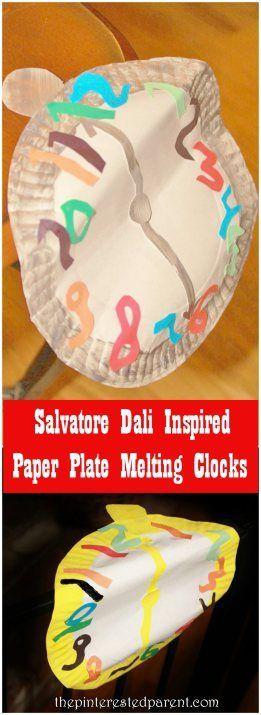 Salvatore Dali Inspired Paper Plate Melting Clocks