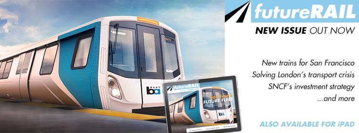 San Francisco's fleet of the future, SNCF's business at home and abroad, and more:  The new Issue of Future Rail is out now.  You can download the Magazine App to read on-the-go from Newsstand here https://itunes.apple.com/us/app/future-rail-magazine/id797440171?mt=8 , or read your copy in our web viewer here: http://www.nridigital.com/future-rail-magazine.html