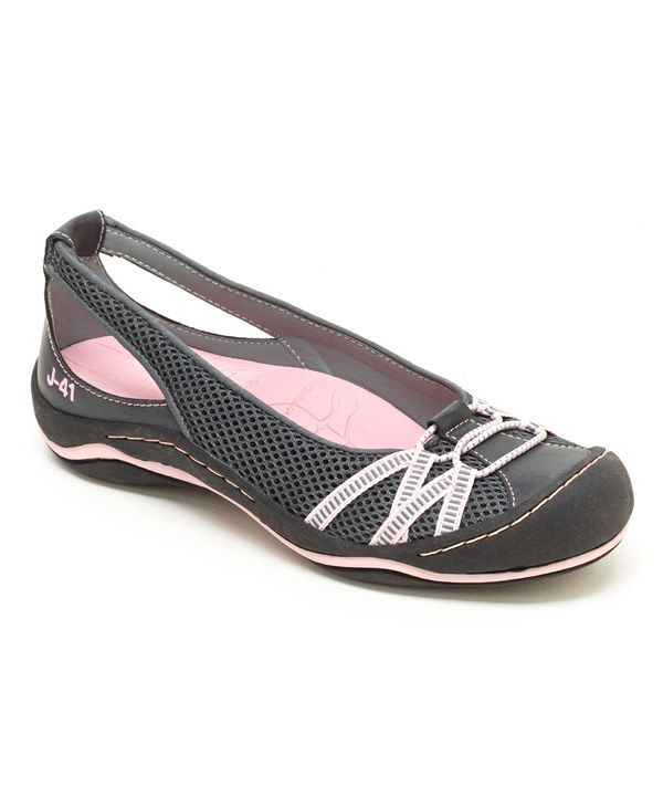 Look at this J-41 Footwear Charcoal & Pink Pear Flat on #zulily today