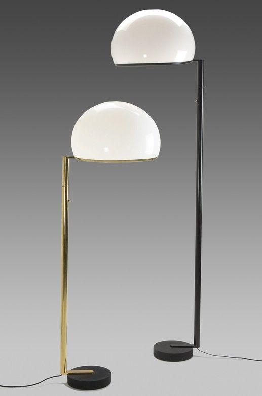 Vittorio Gregotti, Ludovico Magistretti and Giotto Stoppino; Floor Lamps for Arteluce, 1966.