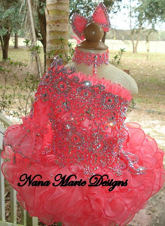 National Glitz Pageant Dress Custom Order by Nana Marie Designs on Etsy, $1,375.00