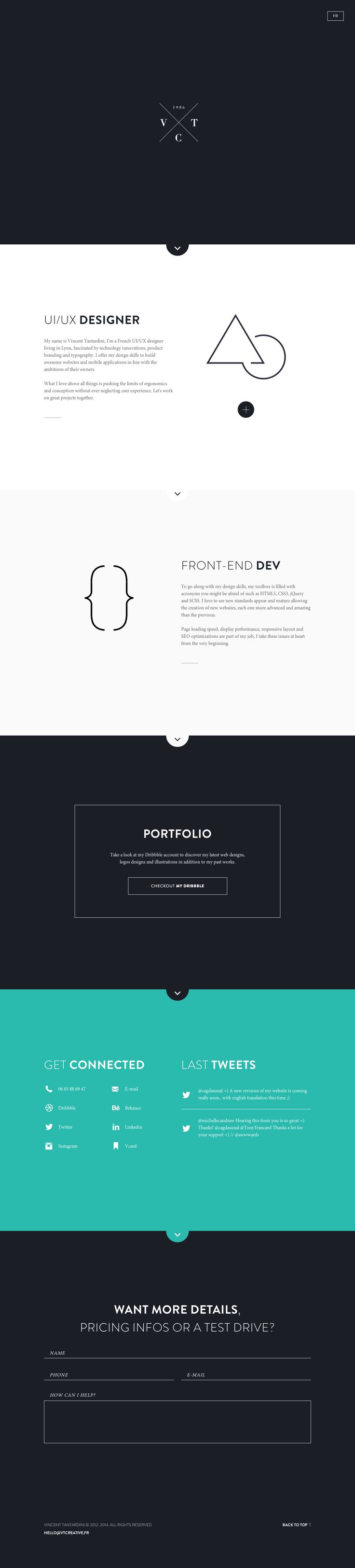 Portofolio Minimalist http://dribbble.com/shots/1427991-Personal-website/attachments/209679