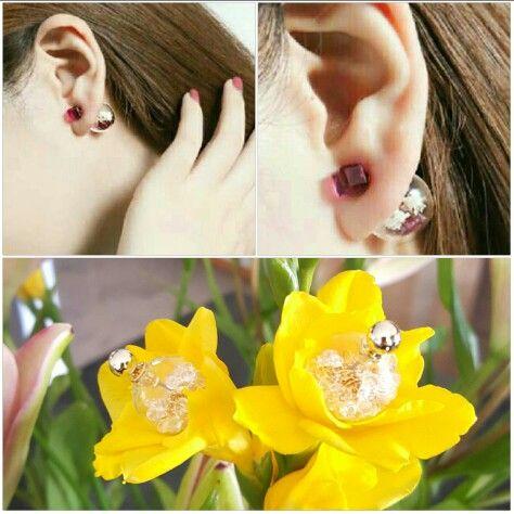Double balls earring