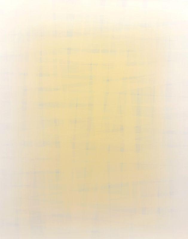 Cybulski Daniel, No title, abstract paitings, white and yellow paitnings, young art, polish art