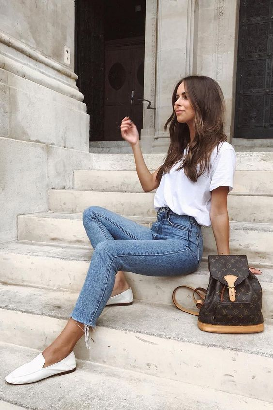 🖤 Remark porter ton t-shirt free blanc avec fashion