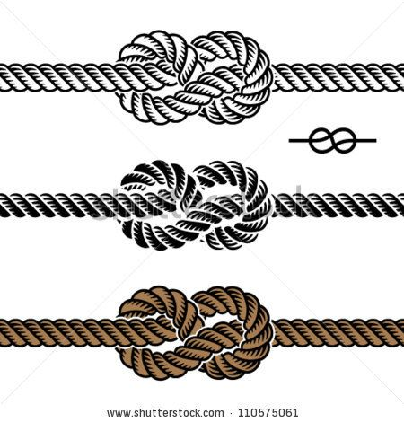 infinity rope knot by Roman Sotola, via ShutterStock