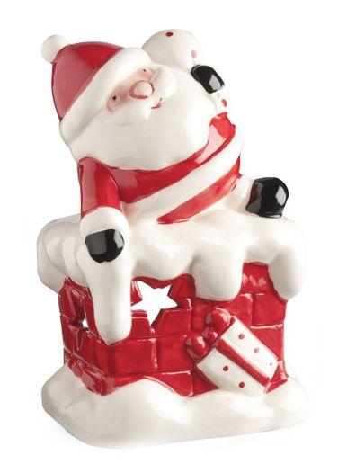 Santa #Chimenea #Navidad #Decoración