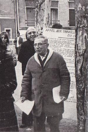 Jean-Paul Sartre et Michel Foucault