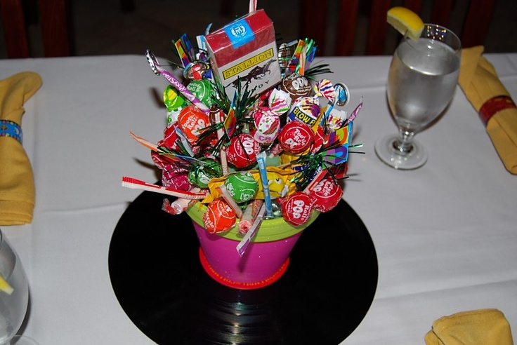 80's candy centerpieces | 80's | Pinterest | Gifts, Photos ...