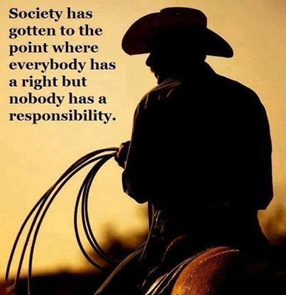 Personal responsibility is at the heart of Libertarianism.