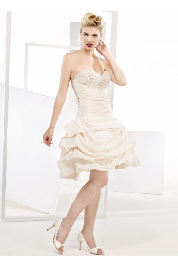 Cocktail Length Wedding Gown of Spring MBDS1050 $269.95 Short Wedding Dresses