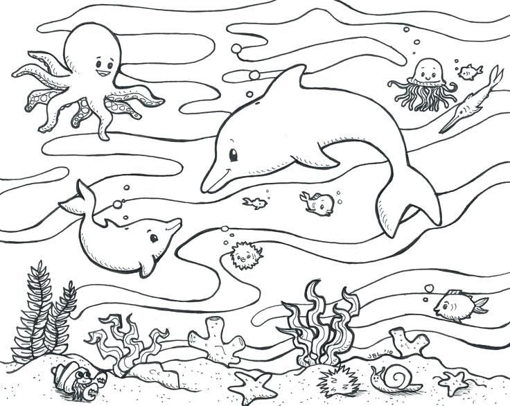 Underwater Coloring Pages Ocean Coloring Pages Coloring Pages