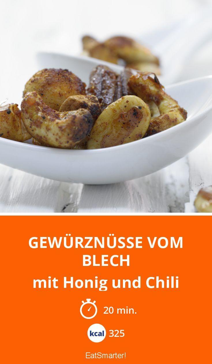 Gewürznüsse vom Blech - mit Honig und Chili - smarter - Kalorien: 325 Kcal - Zeit: 20 Min.   eatsmarter.de