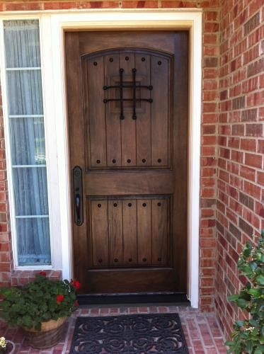 Visit The Home Depot To Steves Sons Rustic 2 Panel Plank Unfinished Mahogany Wood Entry Door With Speakeasy