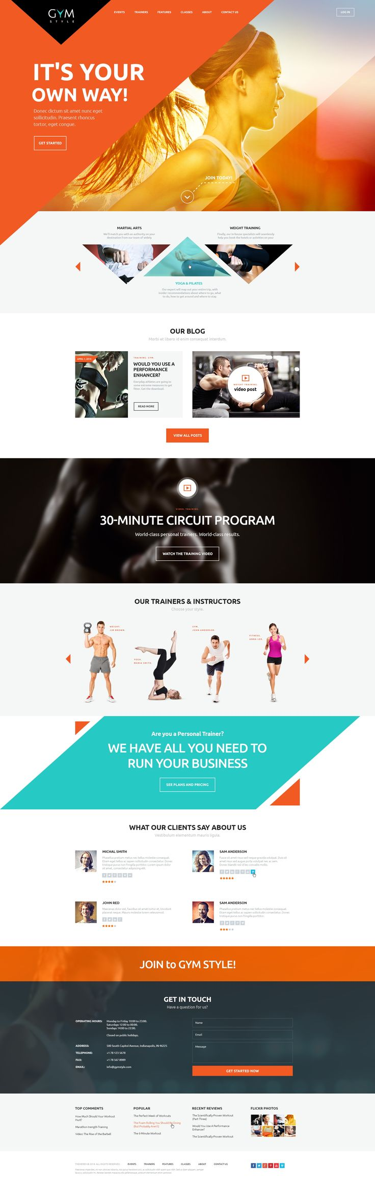 Modern and professional GYM is a perfect fit for sport clubs, personal trainer's…