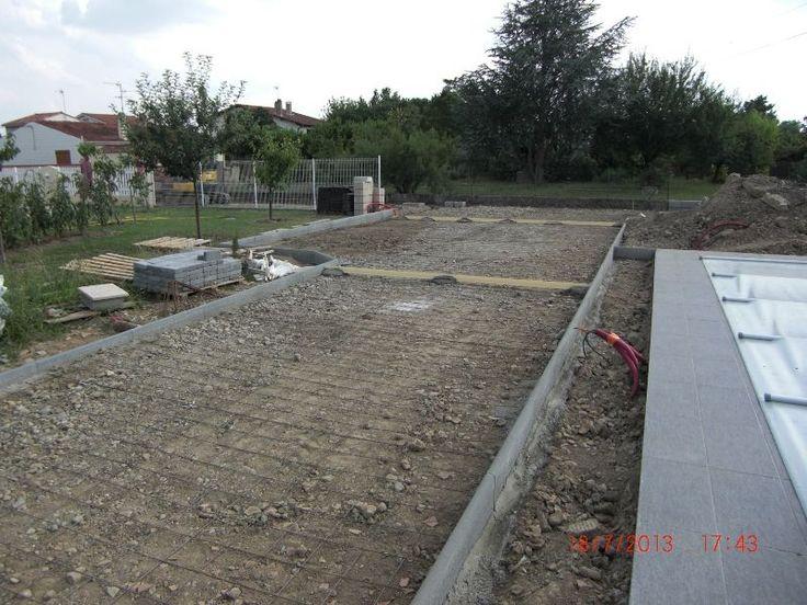 Photo pr paration b ton voie all e enrob e allee - Preparation terrasse beton ...