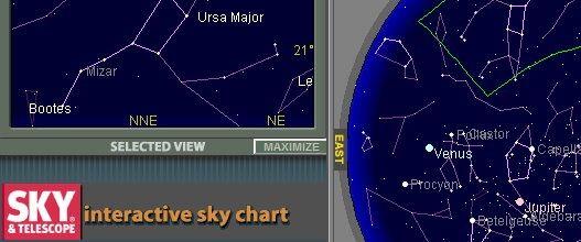 Alles Over Sterrenkunde interactieve sterrenkaart