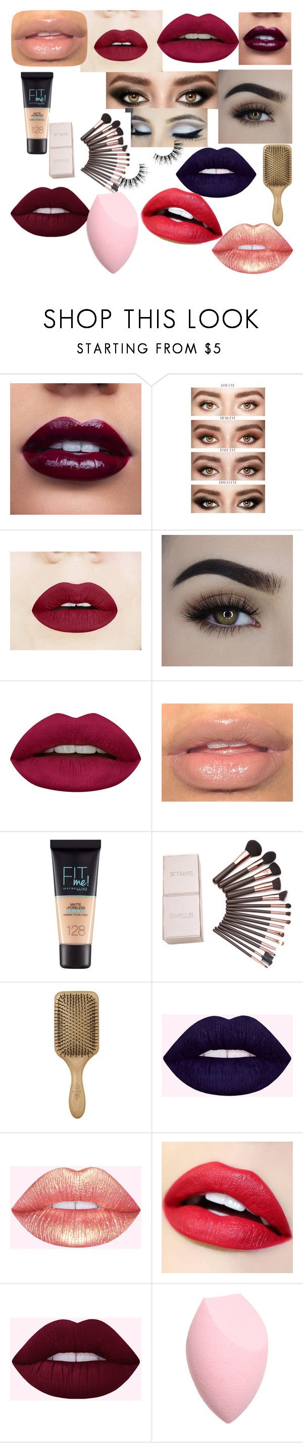 """""""Shopping for Makeup"""" by ohmygshsomeoneactually on Polyvore featuring Huda Beauty, Maybelline, London Fog and Velour Lashes"""