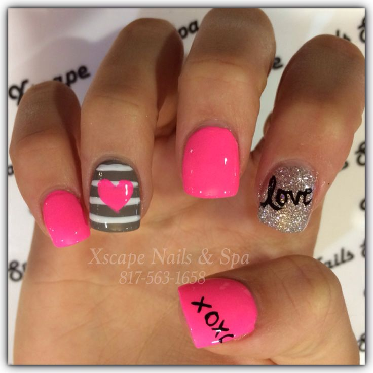 Valentines Day Design/ Cute Nail Designs Discover and share your nail design ideas on www.popmiss.com/...