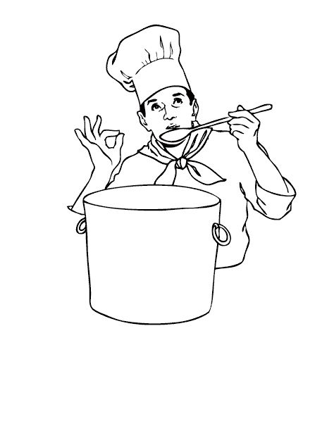 Taste The Flavors Of The Soup Coloring Pages: Taste The