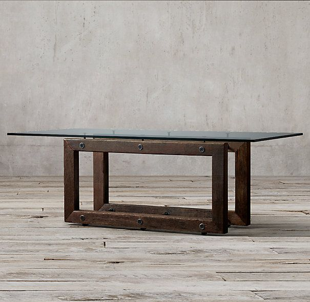 Reclaimed Brazilian Wood Rectangular Dining Table 72 Table 72L