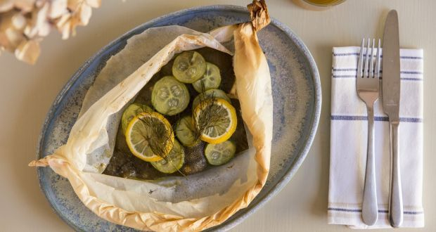 Plaice in a bag: a perfect dinner for one. Photograph: Emma Jervis