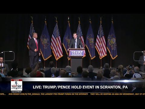 Full Event: Donald Trump & Mike Pence Hold Town Hall in Scranton, PA  7/...