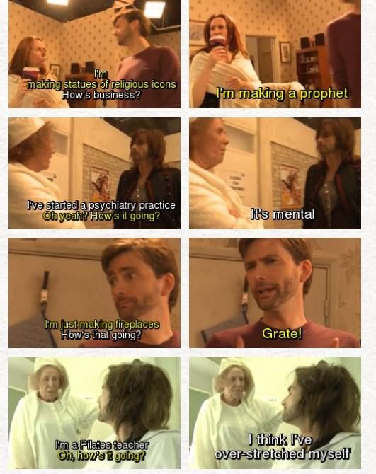 David Tennant and Catherine Tate, having fun outside their run on Doctor Who. This was the best behind the scenes. Such a fun game!