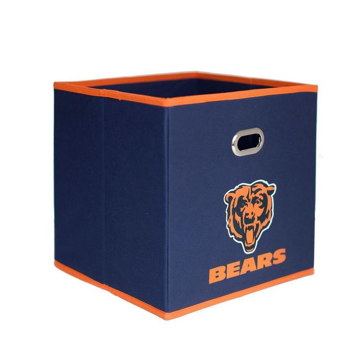 Chicago Bears NFL Store-Its 10-1/2 in. W x 10-1/2 in. H x 11 in. D Navy Blue Fabric Drawer